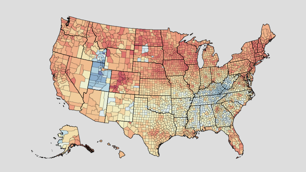 Interactive Map Shows Obesity Alcohol Rates In Every County In