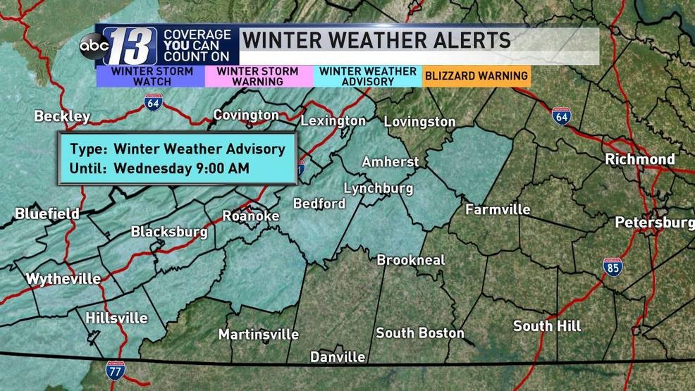 Winter Weather Advisory Issued For Much Of Our Viewing Area