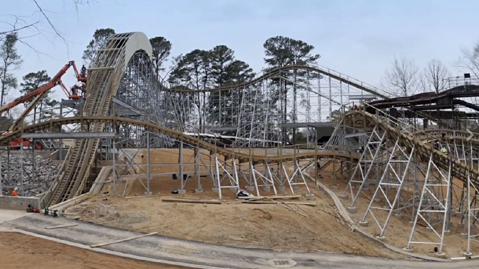 Busch Gardens Debuting First Wooden Roller Coaster This Season Wset