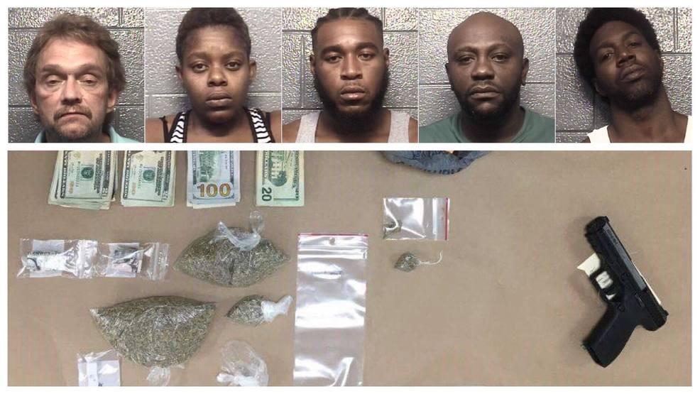 Police: 5 arrested after guns, drugs, cash found in Danville