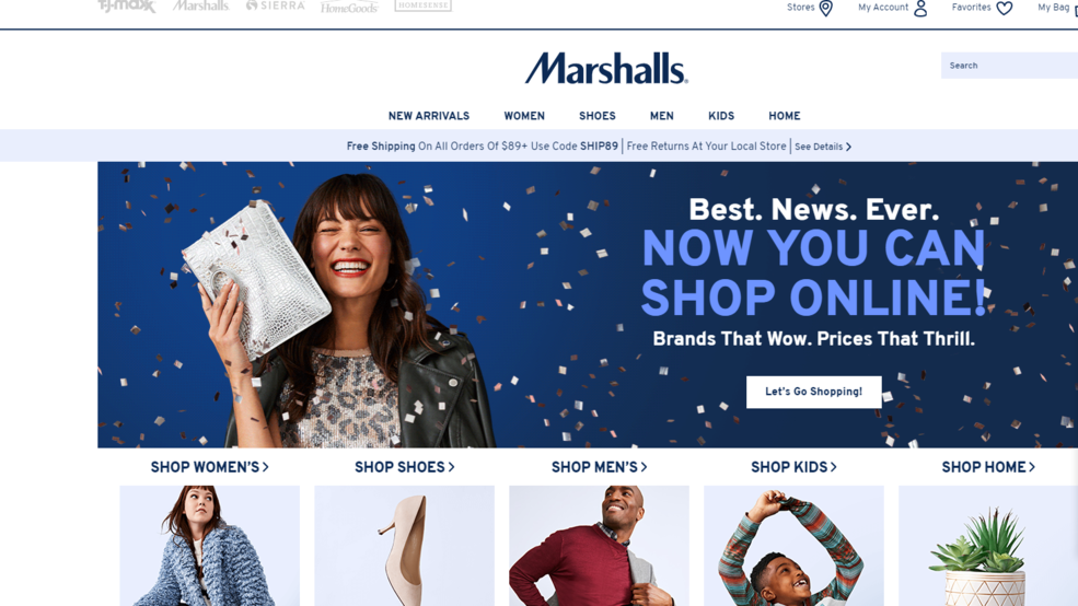 Marshalls Launches Its First Online Store Wset