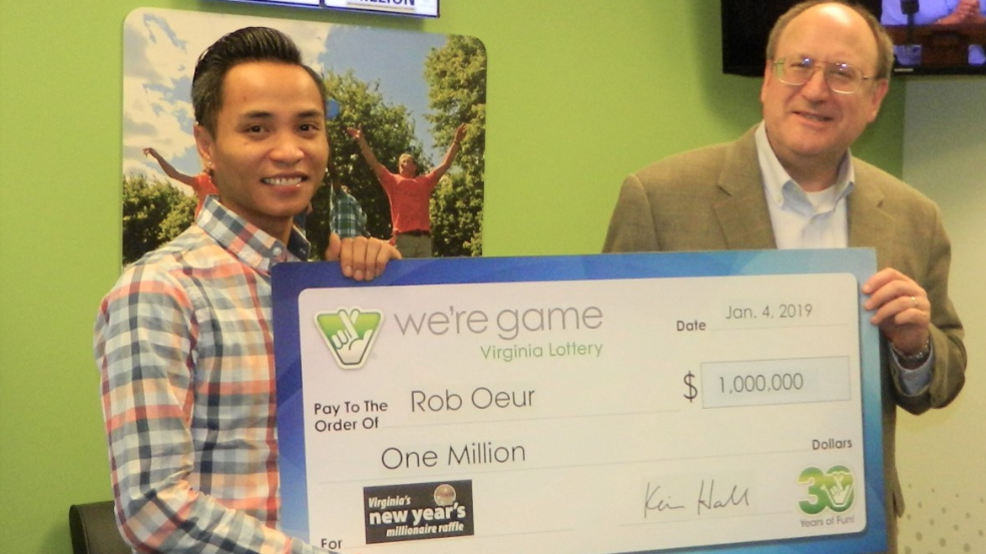 One lucky Chesterfield man won $1 million on New Years Day | WSET