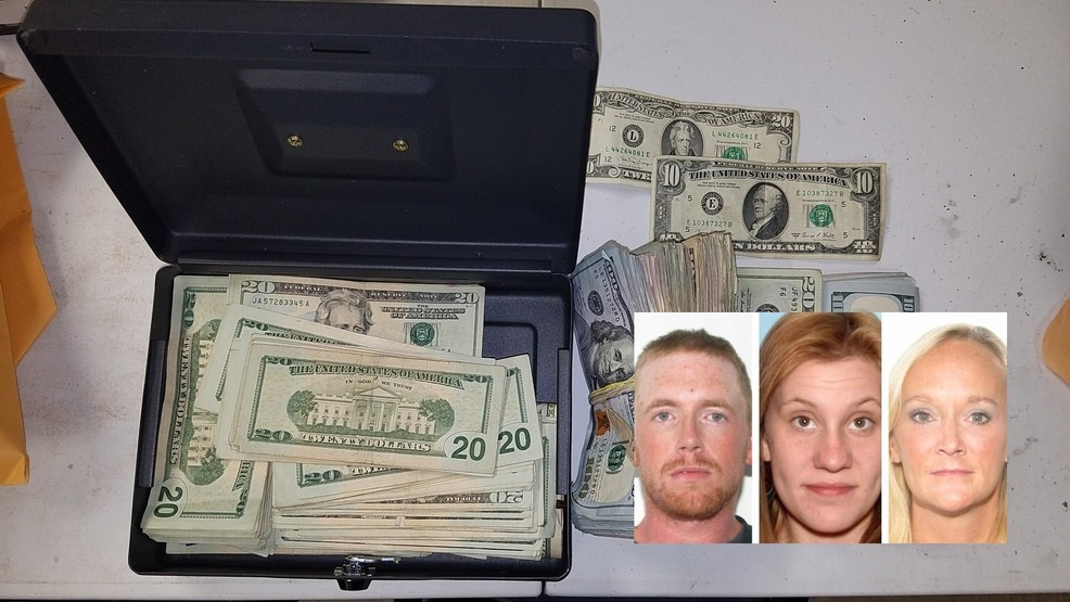 Police arrest 3 suspects, find $30K in cash, $100K in meth